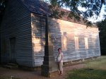megan by the barn where they signed the declaration